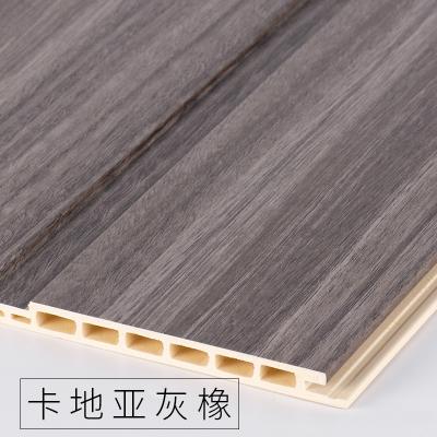 竹木纖維墻裙生態木護墻板防水墻面裝飾板吊頂材料背景墻陽臺快裝 卡地亞灰橡