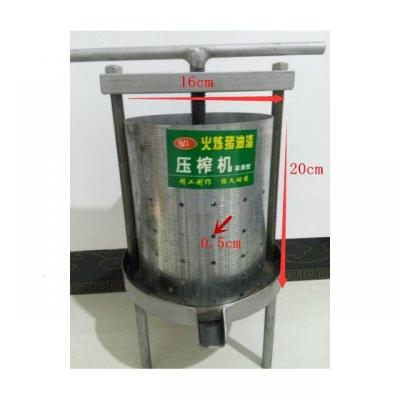 2020新家用手動榨油機 壓榨豬油渣機油渣餅辣椒 鐵質小型鋼板壓榨機 油榨機