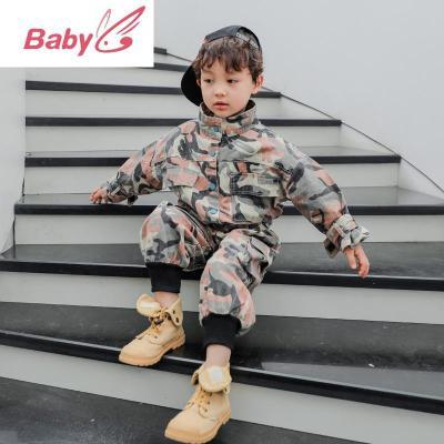 兒童男童春秋裝套裝2020新款洋氣男孩帥氣寶寶工裝兩件套韓版潮裝 SUNTEK兒童西服/小西服