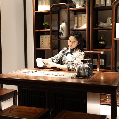 好風景家居新中式茶臺33E9002烏金木茶室四件套