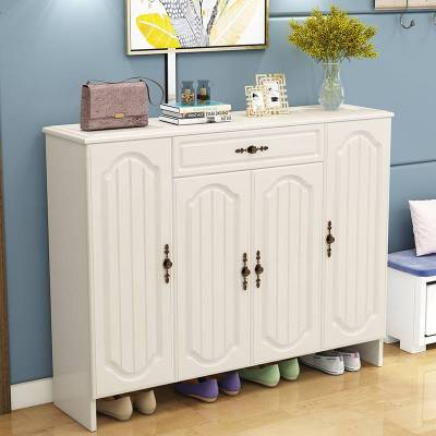 實木質現代簡約鞋柜家用進口大容量鞋架客廳收納儲物歐式玄關柜
