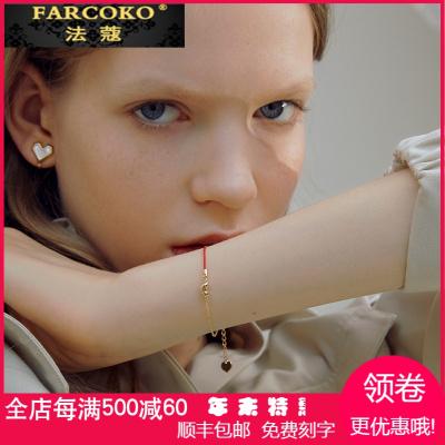 法蔻轻奢品牌ZENGLIU红豆925银本命年闺蜜红绳手链女韩版时尚简约网红个性手饰