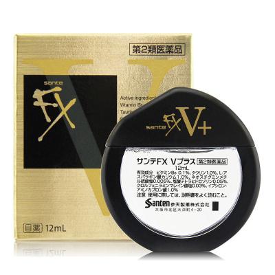 日本参天FX V PLUS NEO清凉眼药水洗眼液(金色) 12ml 改善眼疲劳充血眼部瘙痒Healthy Life