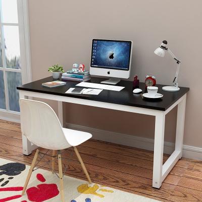 简易电脑桌台式桌古达家用写字台书桌简约现代钢木组装办公桌子双人桌