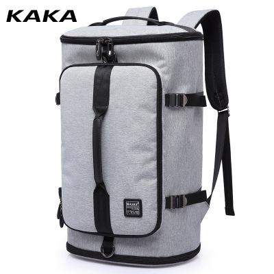 KAKA登山包男士雙肩包男旅行包出差旅游輕便行李袋行李包水桶圓筒運動戶外大容量背包男