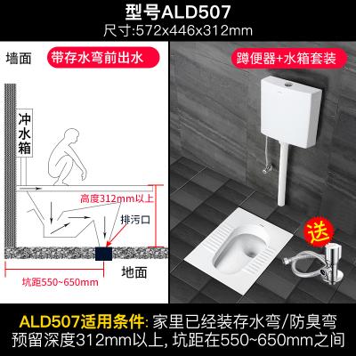 箭牌(arrow)蹲便器套裝防臭家用大便池蹲坑蹲廁所洗手間衛生間陶瓷大便器