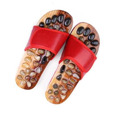 按摩拖鞋男女通用鵝卵石穴位按摩拖保健情侶足底運動鍛煉防滑石頭涼拖鞋