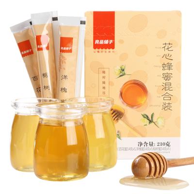 【良品鋪子】花心蜂蜜混合蜂蜜 210g*2 洋槐蜂蜜百花蜜椴樹蜜泡茶早餐飲品休閑零食小吃小袋裝