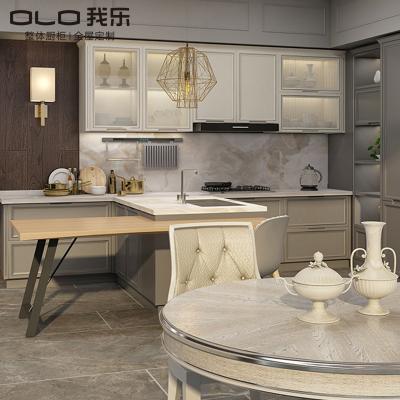 我乐厨柜 整体橱柜 厨房定制 橱柜定做 全屋定制 欧式风格 曼恩