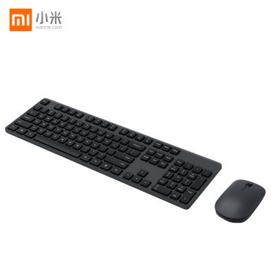 小米無線鍵鼠套裝鍵盤鼠標輕薄便攜辦公筆記本USB電腦外設無限