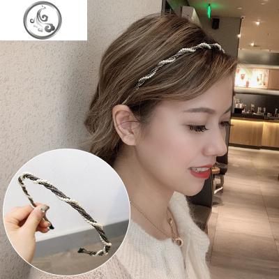 甜美優雅氣質發卡發箍女百搭發帶韓國網紅外出珍珠頭飾壓發細頭箍   JiMi