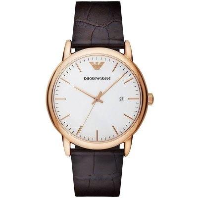 阿瑪尼Emporio Armani歐美品牌男士手表休閑簡約時尚商務皮帶石英表男AR2502