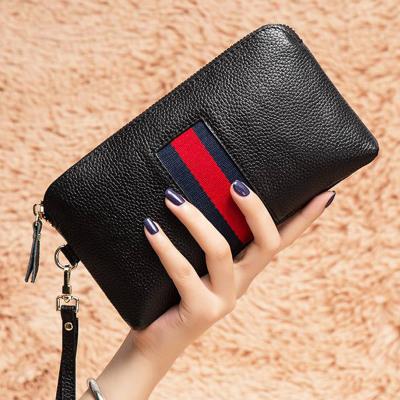 歌洛茲德新品真大容量2019新款手包女士手拿包錢包頭層牛皮手抓包拉鏈手機包女包零錢包