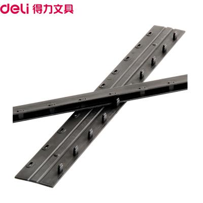 得力(deli)3825 5mm裝訂夾條黑色100支/盒 10孔裝訂夾 裝訂押條 壓邊條 膠圈裝訂夾邊條 塑料夾