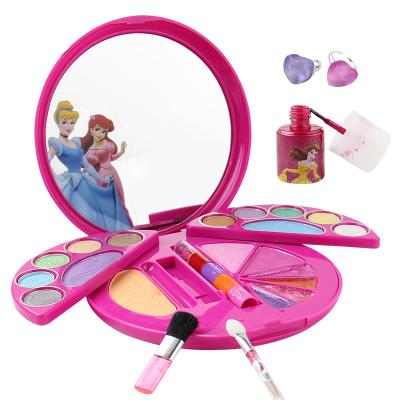 迪士尼兒童化妝品公主彩妝盒套裝D21517X女孩過家家玩具生日禮物正品