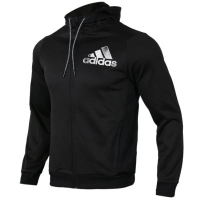 阿迪达斯(adidas)秋季男子针织连帽运动夹克开衫休闲外套DL8702