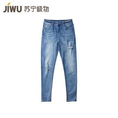 JIWU брэндийн эмэгтэй jeans-н өмд уранхай загварын гүн цэнхэр 29