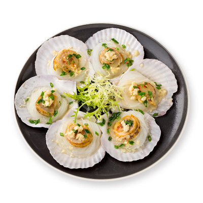百年漁港蒜蓉粉絲扇貝 貝類日料海鮮水產6枚 200g