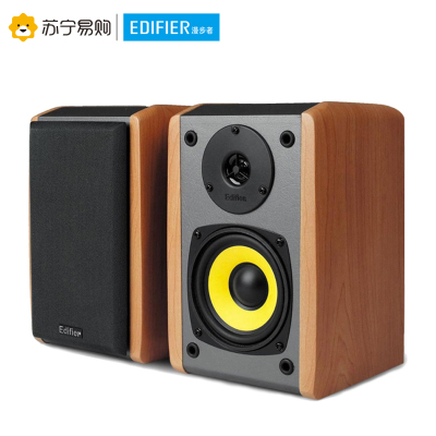 Edifier/漫步者 R1000TC北美版多媒體有源電腦音箱低音炮2.0音響 白桃木色