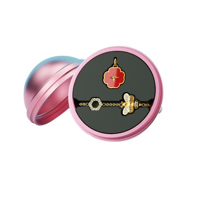 水贝珠宝(SHUIBEI JEWELRY) 18K金甜蜜蜜红玉髓钻石项链+施华洛世奇小蜜蜂手链 黄金钻石首饰套装 18K