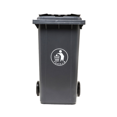 环卫户外垃圾桶 加厚带轮轴挂车垃圾桶 灰色120L
