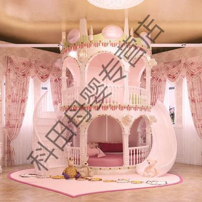 韓式高低床雙層床兒童床女孩公主床實木子母床上下床多功能組合床 定金 其他更多組合形式