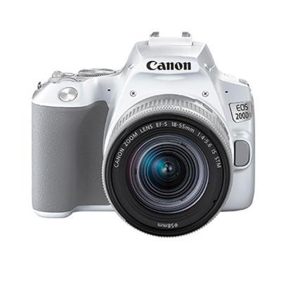 佳能(Canon)迷你單反EOS 200D II(18-55)白色數碼相機 單鏡頭套裝 有效像素約2410萬