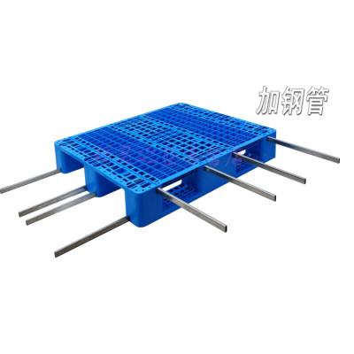 定制加強川字網格塑料托盤叉車棧板塑膠墊倉出口卡板倉庫貨架