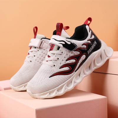 梵蒂加(VENTIGA)童鞋2020新款RB-286838夏季火焰款飛織鞋男孩百搭運動鞋中大童男生小學生時尚休閑潮鞋男童