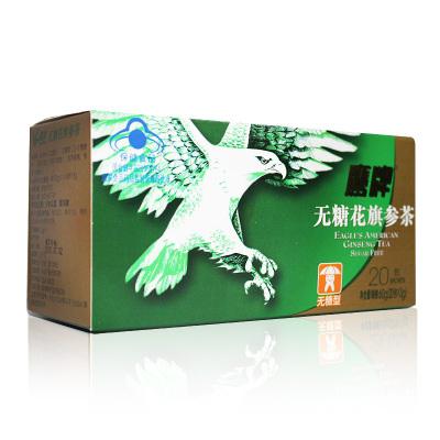 【送有糖20包】鹰牌无糖花旗参茶 3g/包*20包