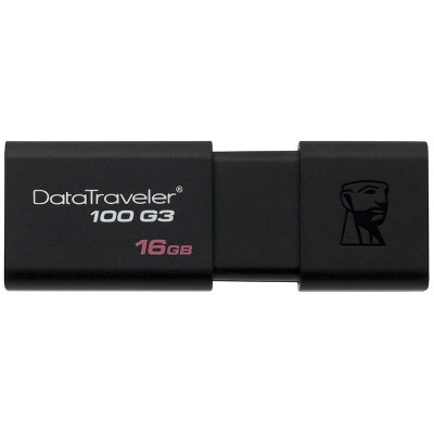 金士顿(Kingston)DT100G3 16GB USB3.0 U盘(黑色)