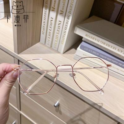【品質優選】近視眼鏡女學生韓版無度數網紅眼鏡防輻射藍光眼鏡男平光鏡女