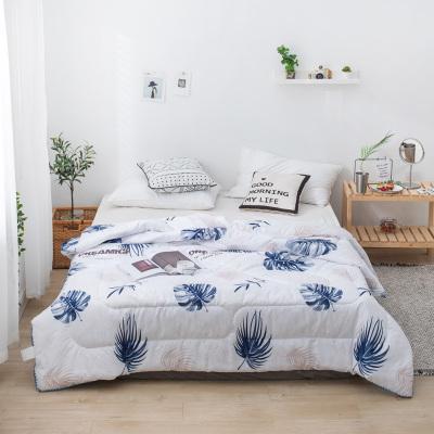 南極人(NanJiren)家紡 可水洗纖維夏被平紋大豆纖維夏被 床上用品花朵/草/葉子空調被子被芯