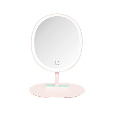 贝览得BLD镜子化妆镜 梳妆镜高清镜面 美妆面部工具美妆镜 LED化妆镜带灯高清镜子智能桌面台式台灯补光梳妆镜