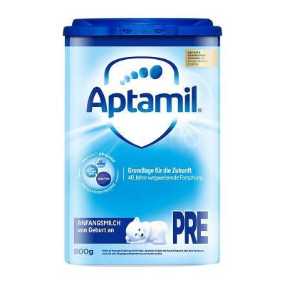 Aptamil 愛他美 德國原裝進口 德國愛他美 嬰幼兒配方奶粉 保稅倉速 Pre段(0-6個月)800g *1罐