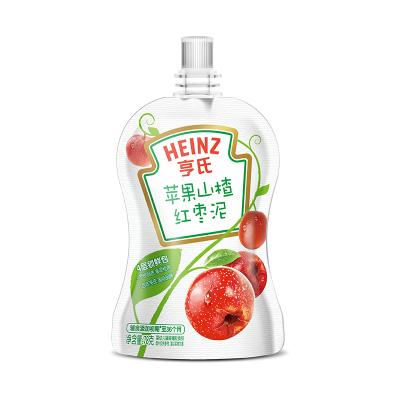 Heinz/亨氏蘋果山楂紅棗泥78g 適用輔食添加初期以上至36個月 亨氏超金嬰兒果泥無添加寶寶輔食果泥吸吸袋寶寶零食