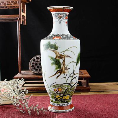 每日精进 景德镇陶瓷艺术装饰花瓶 路路高升家居客厅书房装饰摆件花瓶