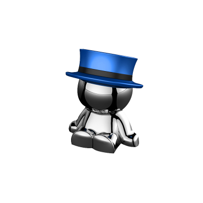 新款小人車載手機支架LOVEYOU PAI磁鐵手機支架磁吸支架 藍色