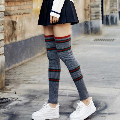 韓版過膝襪套腿套護膝腿腿保暖長筒套瑜伽堆堆襪毛線女