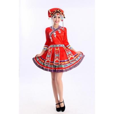 土家族彝族廣場舞服裝苗族少數民族舞蹈女裝壯族瑤族演出服秧歌服