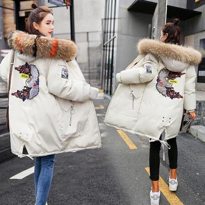 反季棉衣女中長款韓版寬松加厚大碼面包服冬季女裝外套棉襖棉服 臻依緣