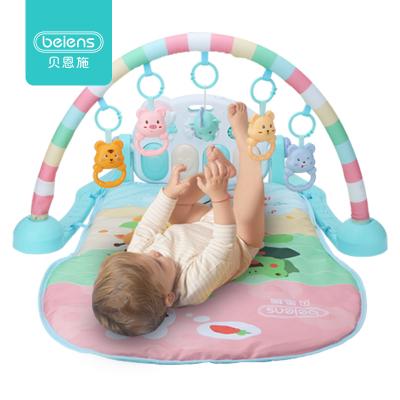 貝恩施(beiens) 兒童嬰兒玩具 腳踏鋼琴健身架 床鈴/搖鈴 早教益智安撫 爬爬墊可水洗 塑料 布 0-1歲 B21