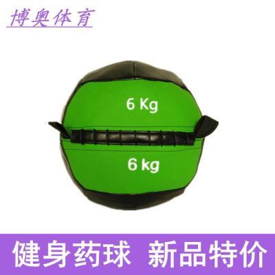 健身软药球PU壁球墙球非弹力实心球私教平衡训练康复重力球[定制] 药球10KG单个(颜色随机)