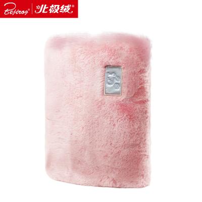 北极绒(Bejirog)暖手宝 热水袋 暖宝宝 毛绒外套充电款水电分离可当靠枕送礼品礼物 粉色方块款