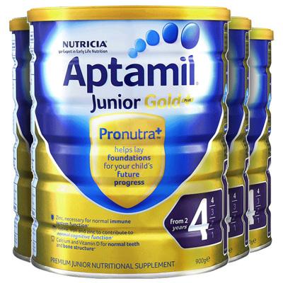 4罐裝|【親源配方】海外Aptamil 澳洲愛他美金裝 嬰幼兒配方奶粉 4段(24月以上)900g/罐 新西蘭原裝進口