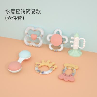 貝恩施嬰兒手搖鈴1歲嬰幼兒新生兒寶寶益智牙膠抓握玩具 6件套 嬰兒搖鈴B268