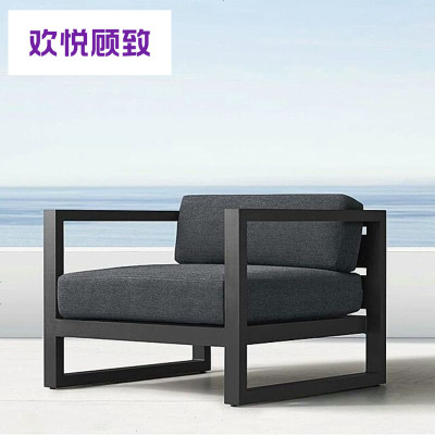 簡易布藝卡座沙發凳子會客區組合客廳服裝店辦公茶幾現代簡約