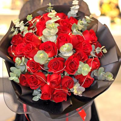 愛花居鮮花速遞同城送花全國配送33枝紅玫瑰 鮮花速遞2小時送達 紅玫瑰花束生日鮮花 廣州西安蘇州上海北京蘇州杭州
