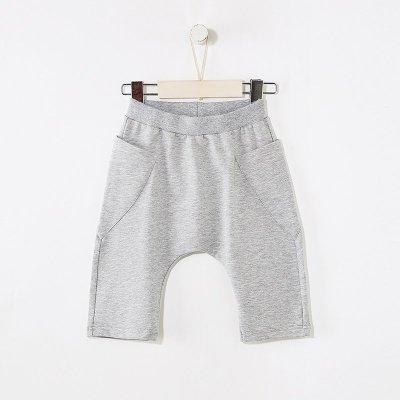 【2件2.5折價:39.8】moomoo童裝男童新款夏裝簡約印花針織七分褲