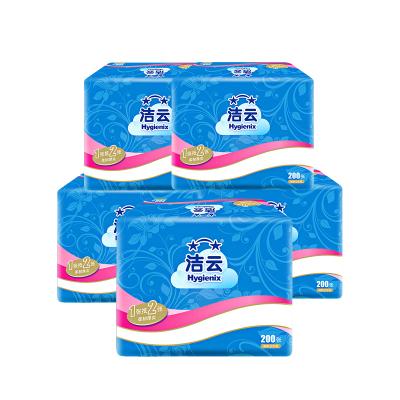 潔云 平板紙 方包衛生紙 加韌 200張5包組合裝衛生紙 原生漿廁紙草紙柔韌厚實